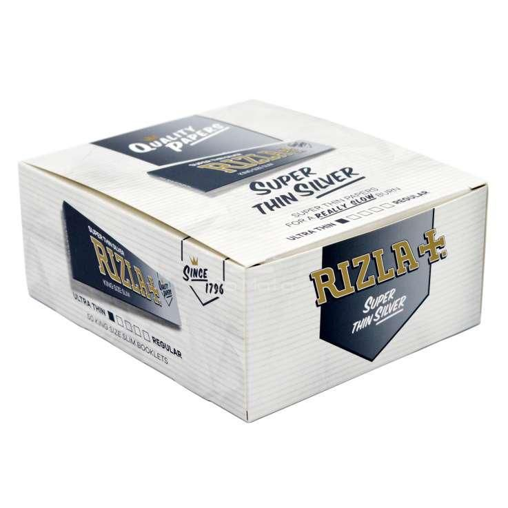 Caixa de Seda Rizla Super Thin Silver - 50 un