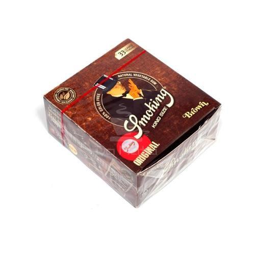 Caixa de Seda Smoking Brown King Size