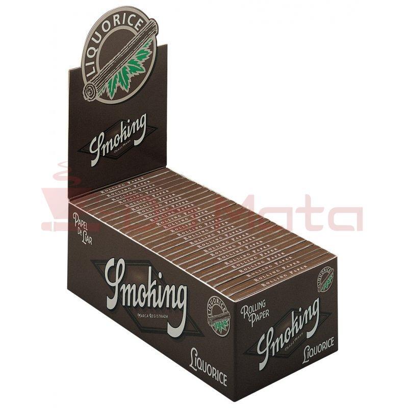 Caixa de Seda Smoking Liquorice 1/4 ORIGINAL