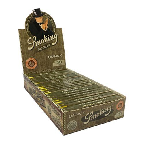Caixa de Seda Smoking Organic 1 1/4