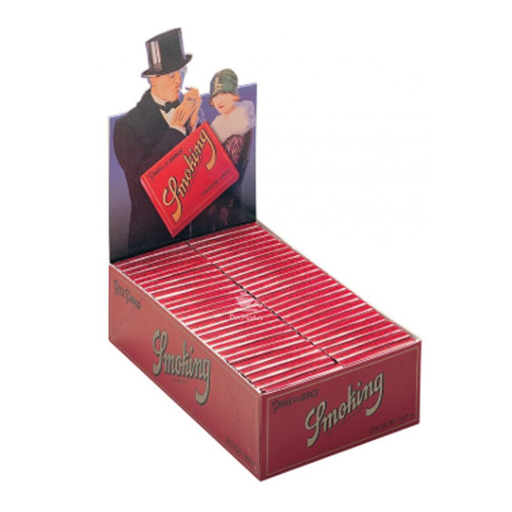 Caixa de Seda Smoking Papel de Arroz Red