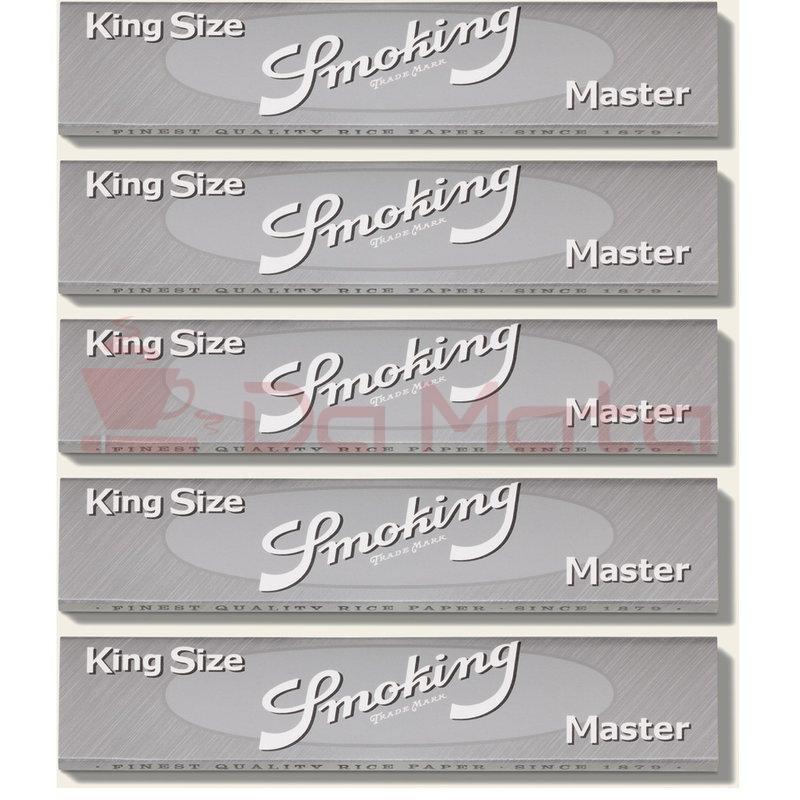 Caixa de Seda Smoking Silver King Size Master ORIGINAL