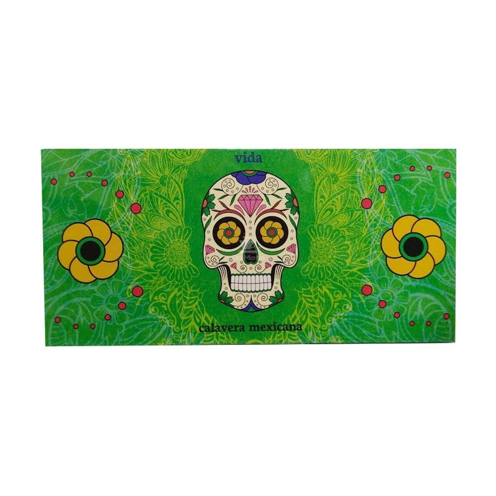Caixa de Seda Snail Calavera Mexicana King Size c/ Piteira