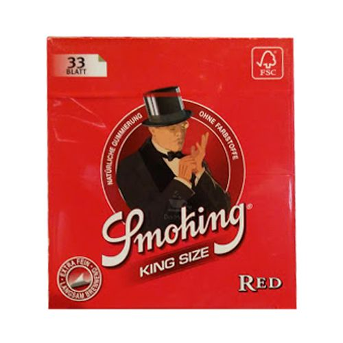 Caixa de Seda Smoking Red King Size