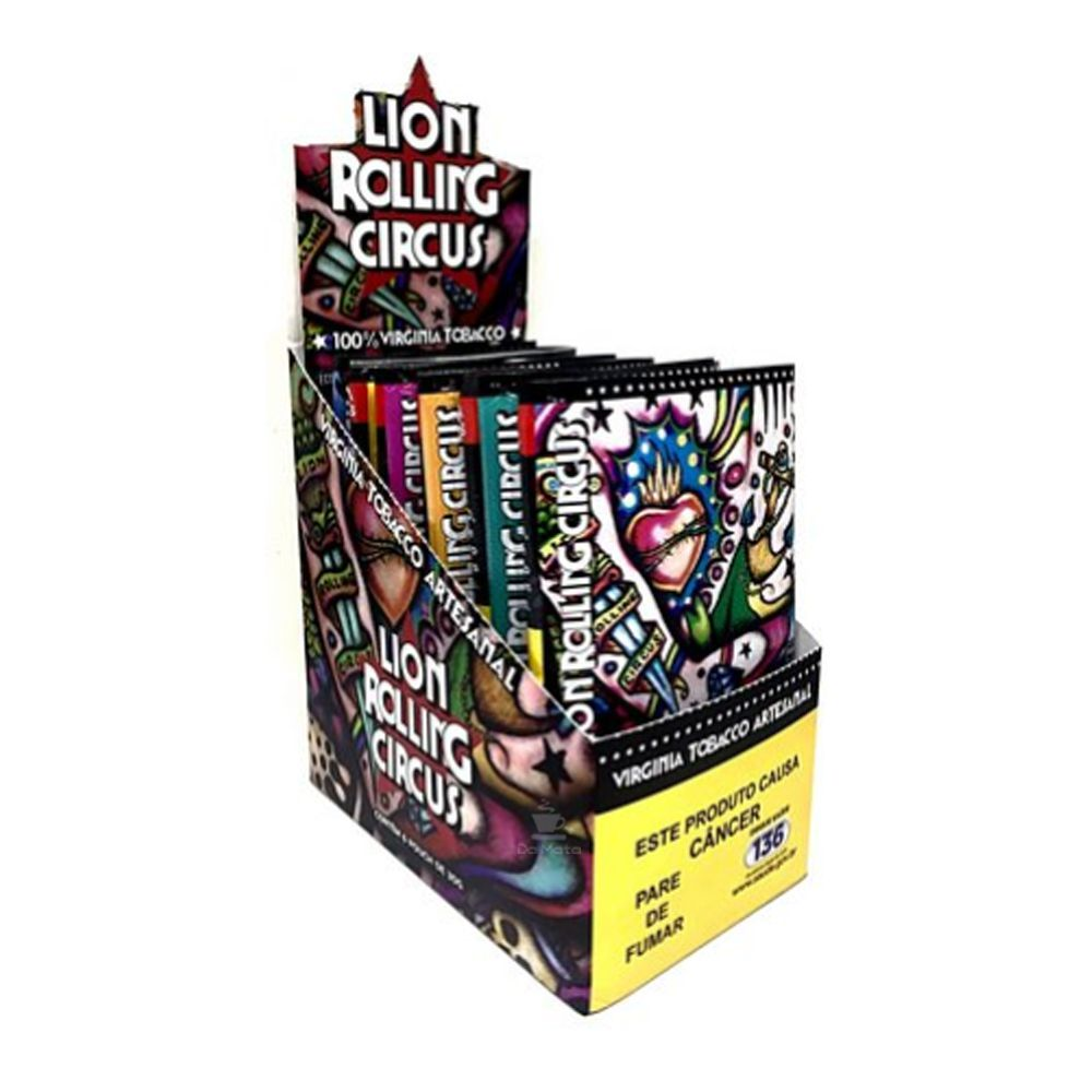 Caixa de Tabaco Lion Rolling Circus