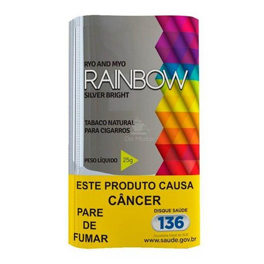 Caixa de Tabaco Rainbow Silver Bright