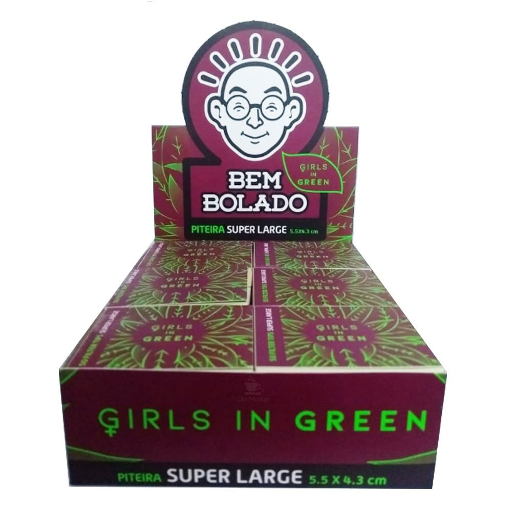Caixa piteira Girls in green  large - verge - 24 unidades