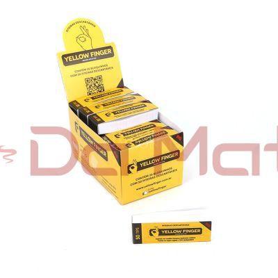 Caixa Piteira Yellow finger BIG - 25 livretos