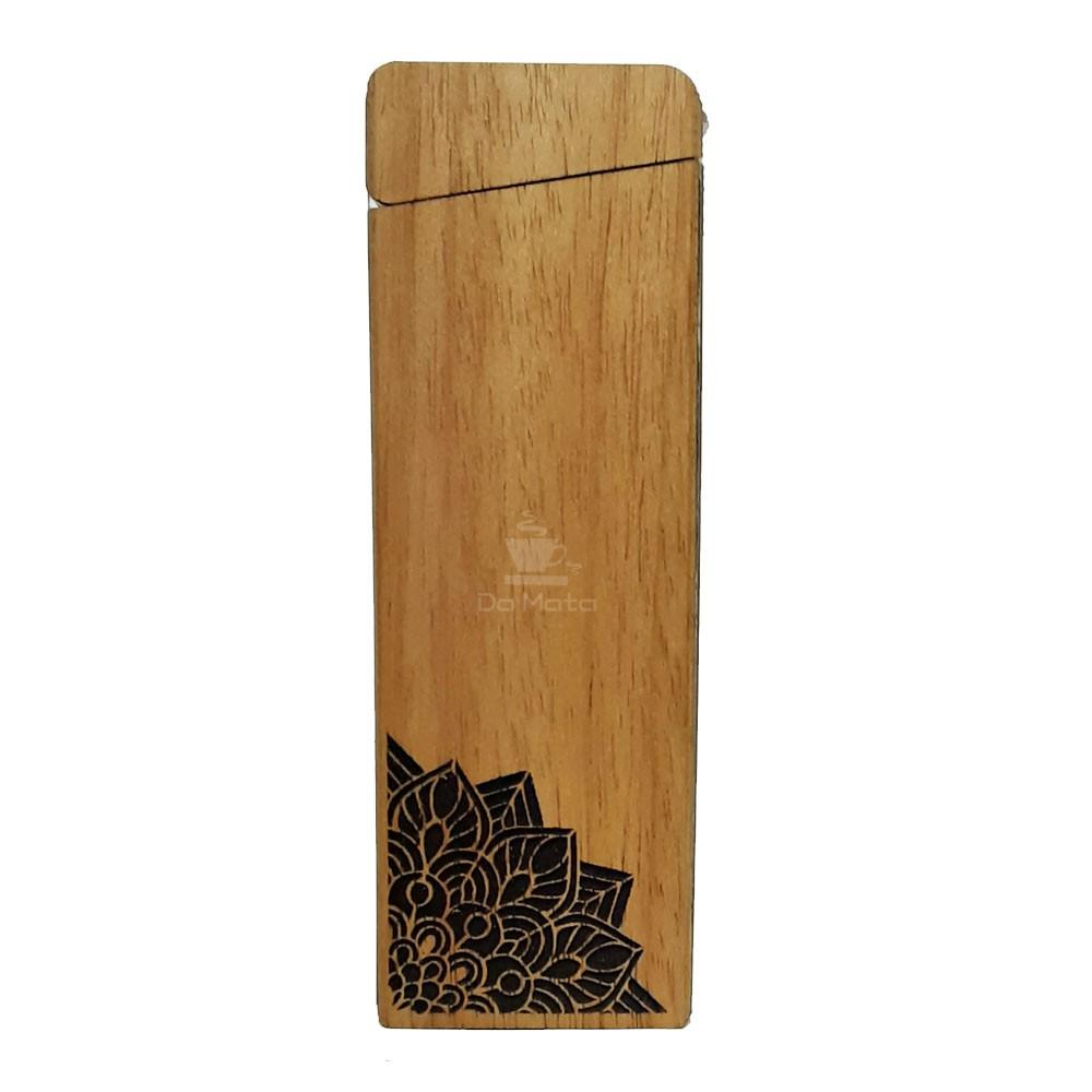 Case Hemp Wood Burning Mandala