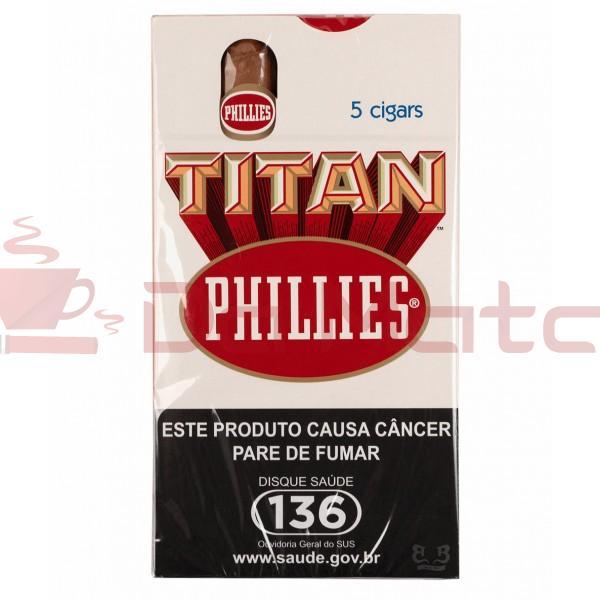 Charuto Titan Phillies  Classic - Caixa com 5 unidades