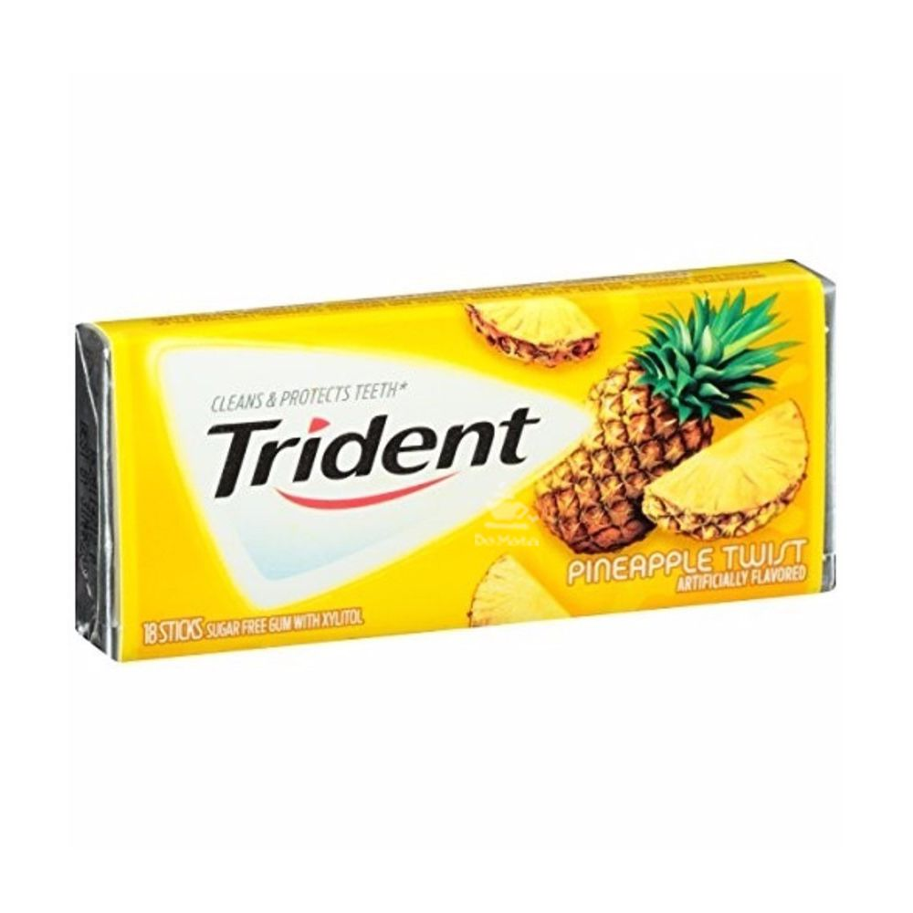 Chiclete Trident Importado - Abacaxi