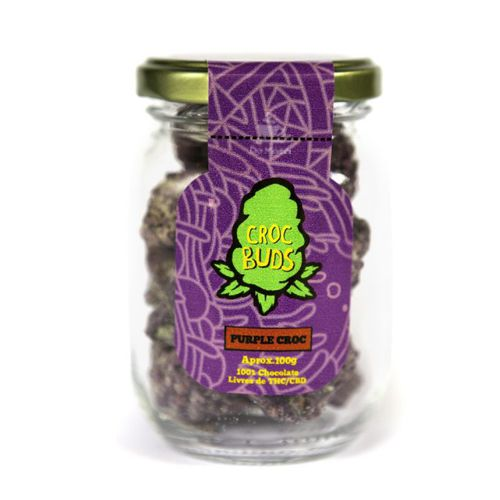 Chocolate Croc Buds - Purple Croc 100g