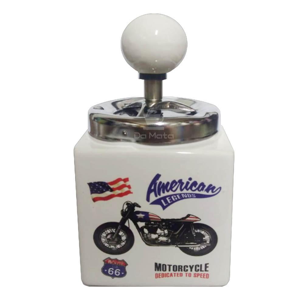 Cinzeiro de Cerâmica Motorcycle