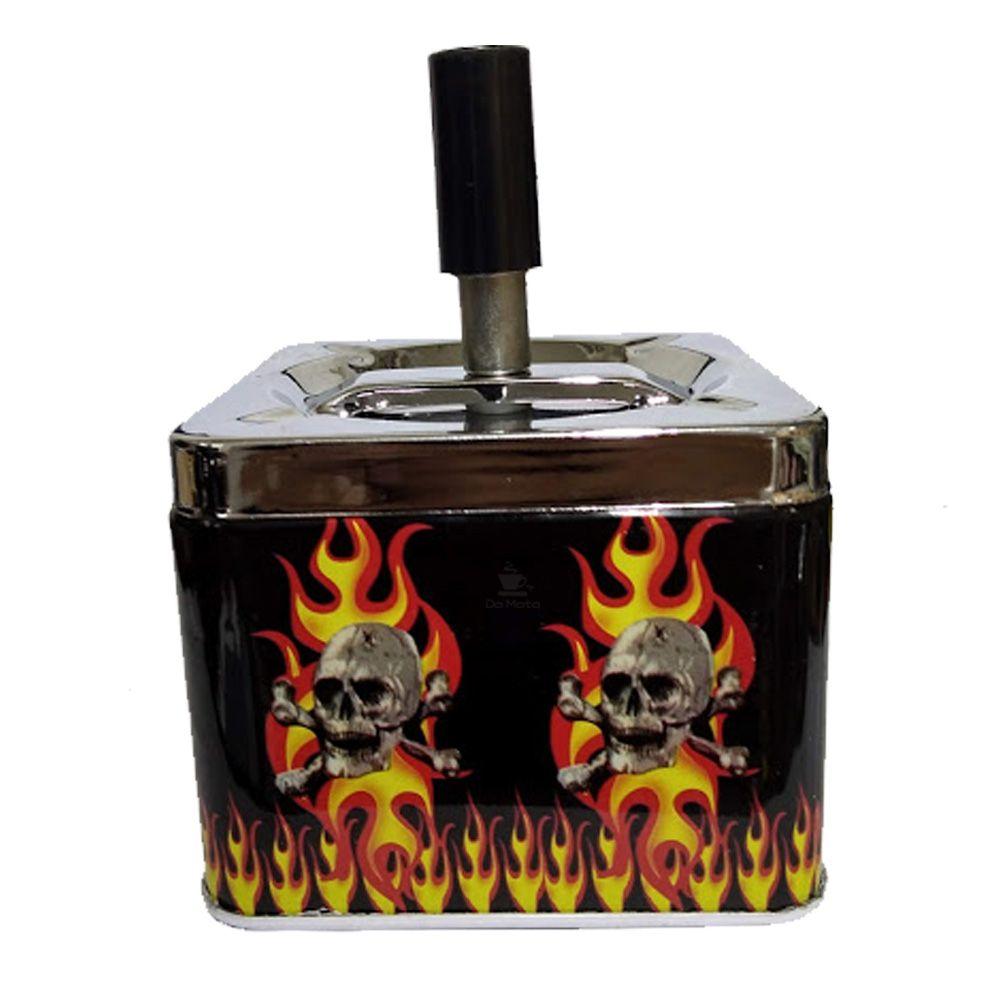 Cinzeiro de Metal Skull Fire