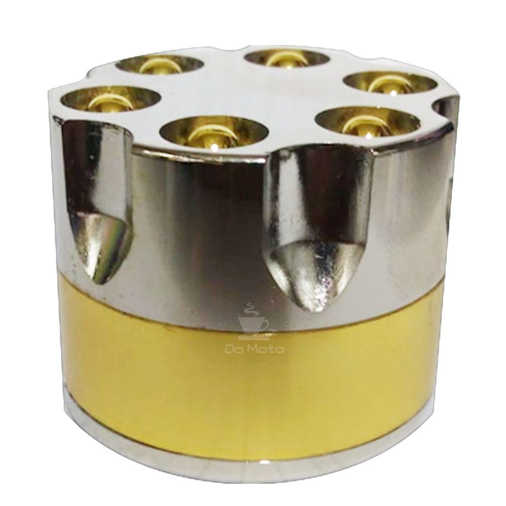 Dichavador de Metal Tambor de Revólver Grande