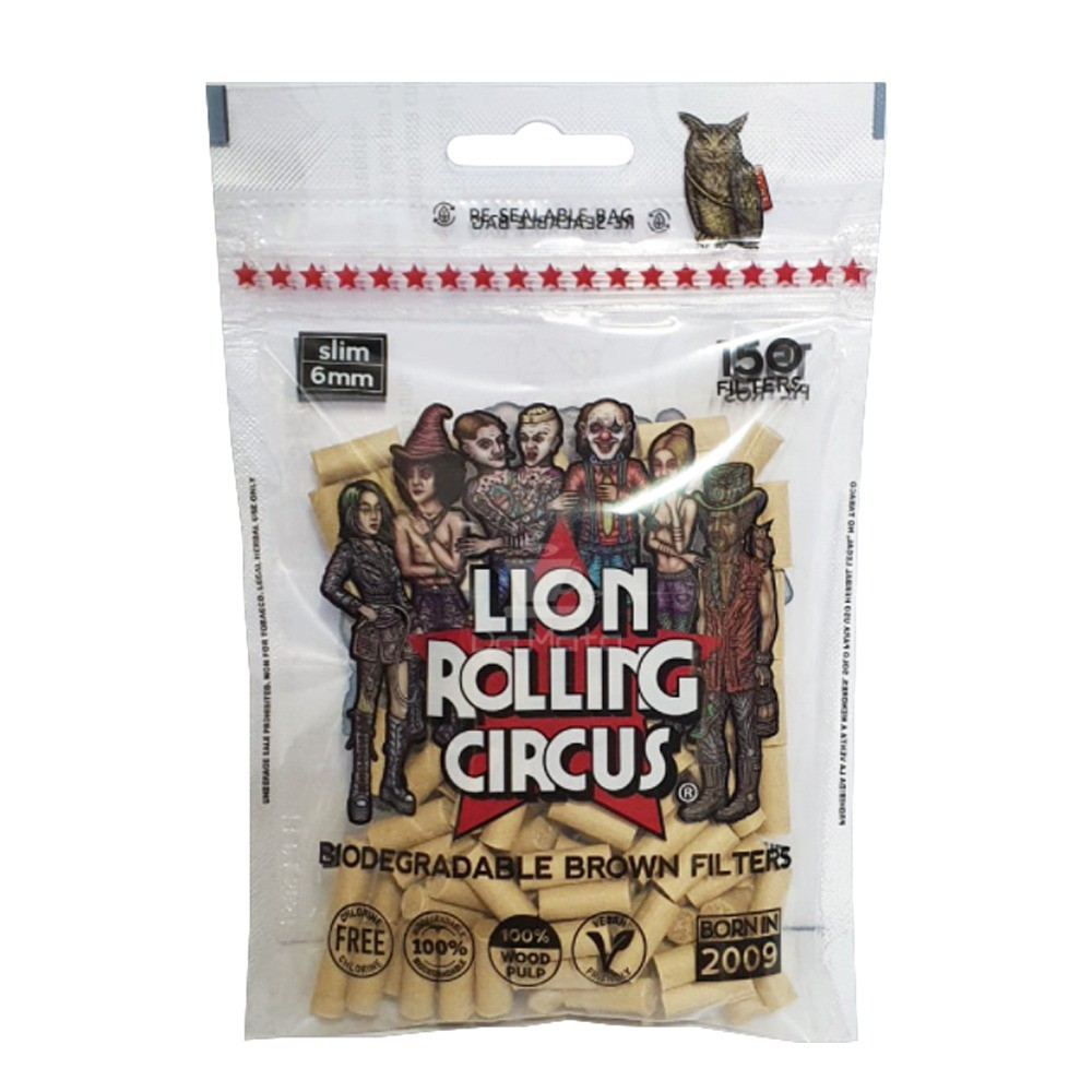 Filtro Lion Rolling Circus Biodegradável