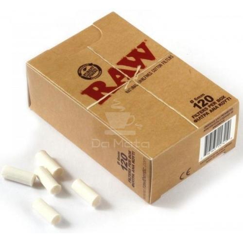 Filtro Raw de algodão, 120 unidades, 6mm