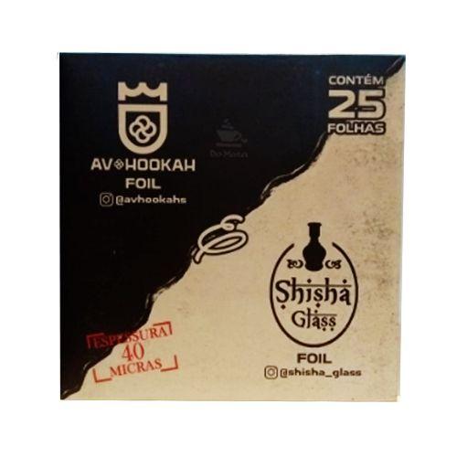 Folhas de Alumínio para Arguile - Shisha Glass