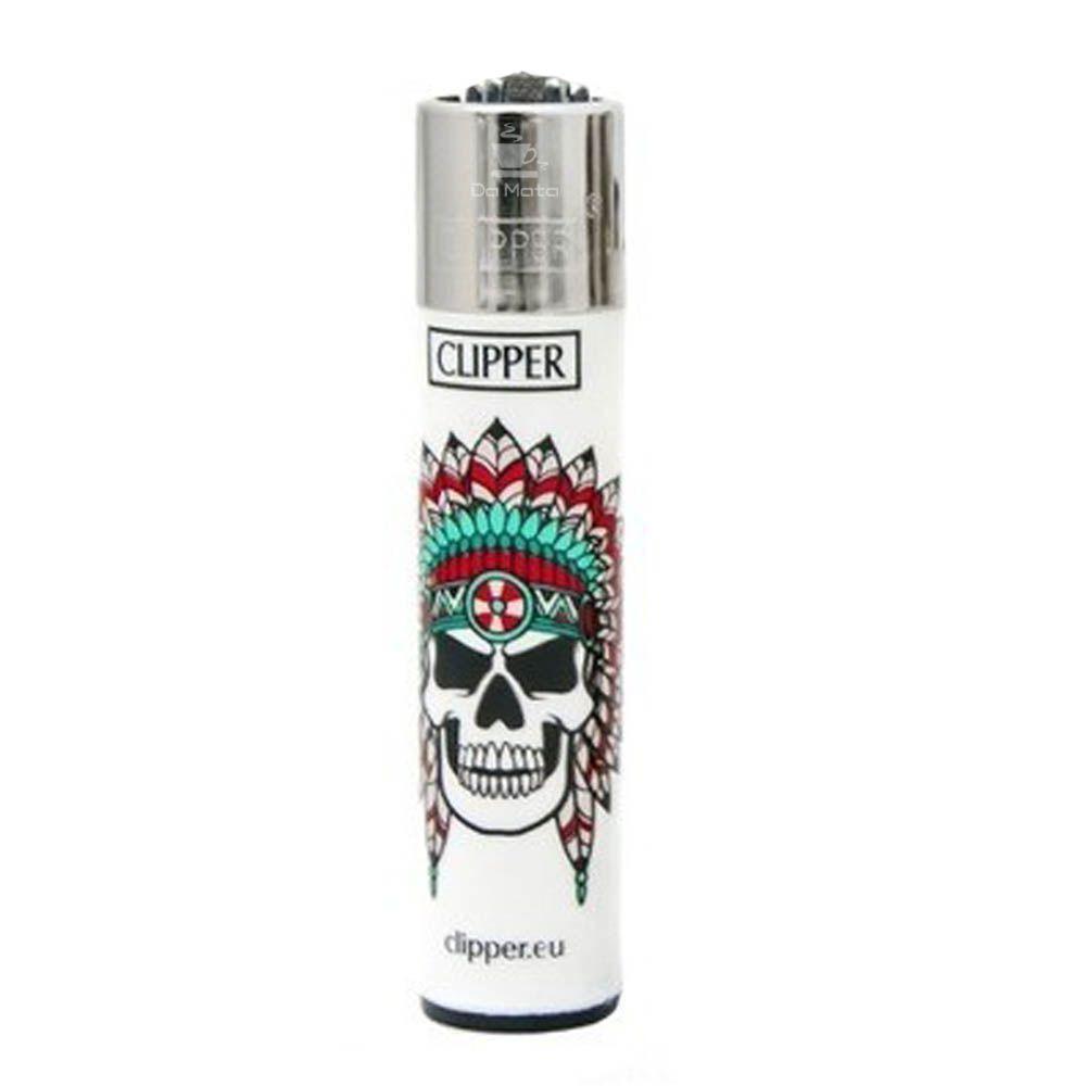 Isqueiro Clipper Skulls 11 1/4