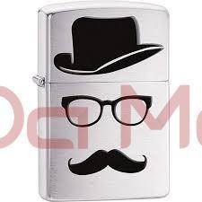 Isqueiro Zippo -Moustache And Hat
