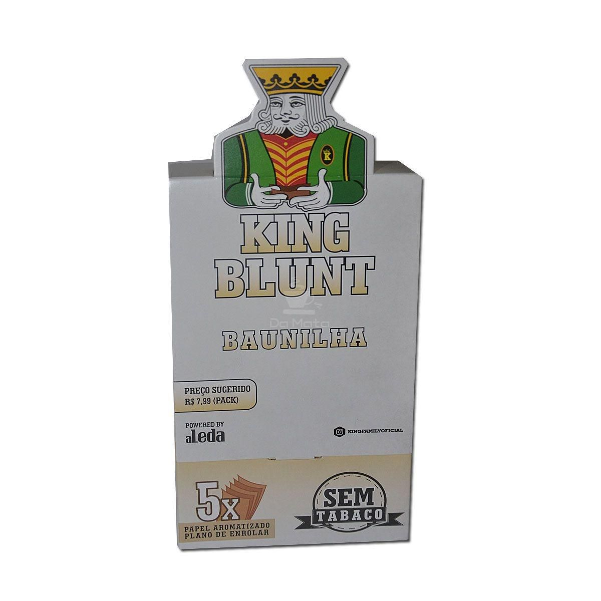 King Blunt - Baunilha- Caixa, 25 envelopes - 125 Blunts