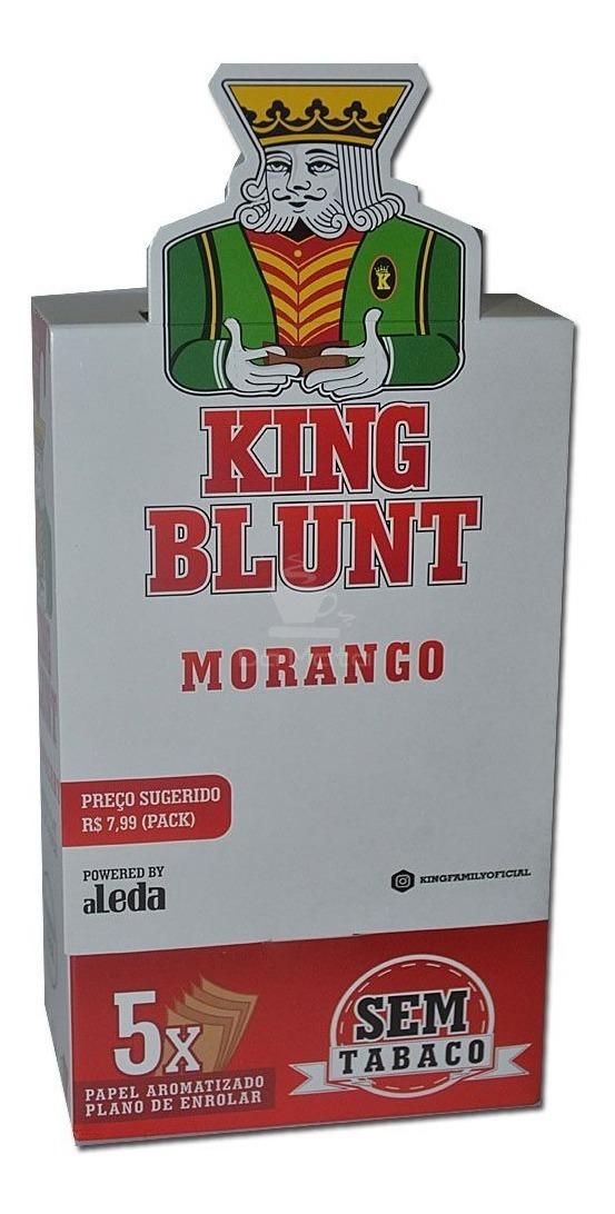 King Blunt - Morango - CAIXA 25 envelopes - 125 blunts