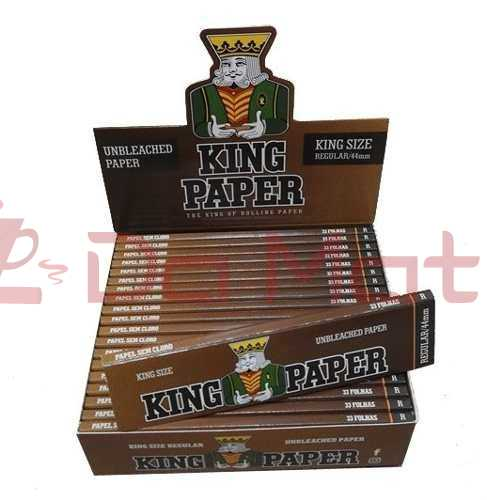 King Paper Unbleached 1/4 - caixa