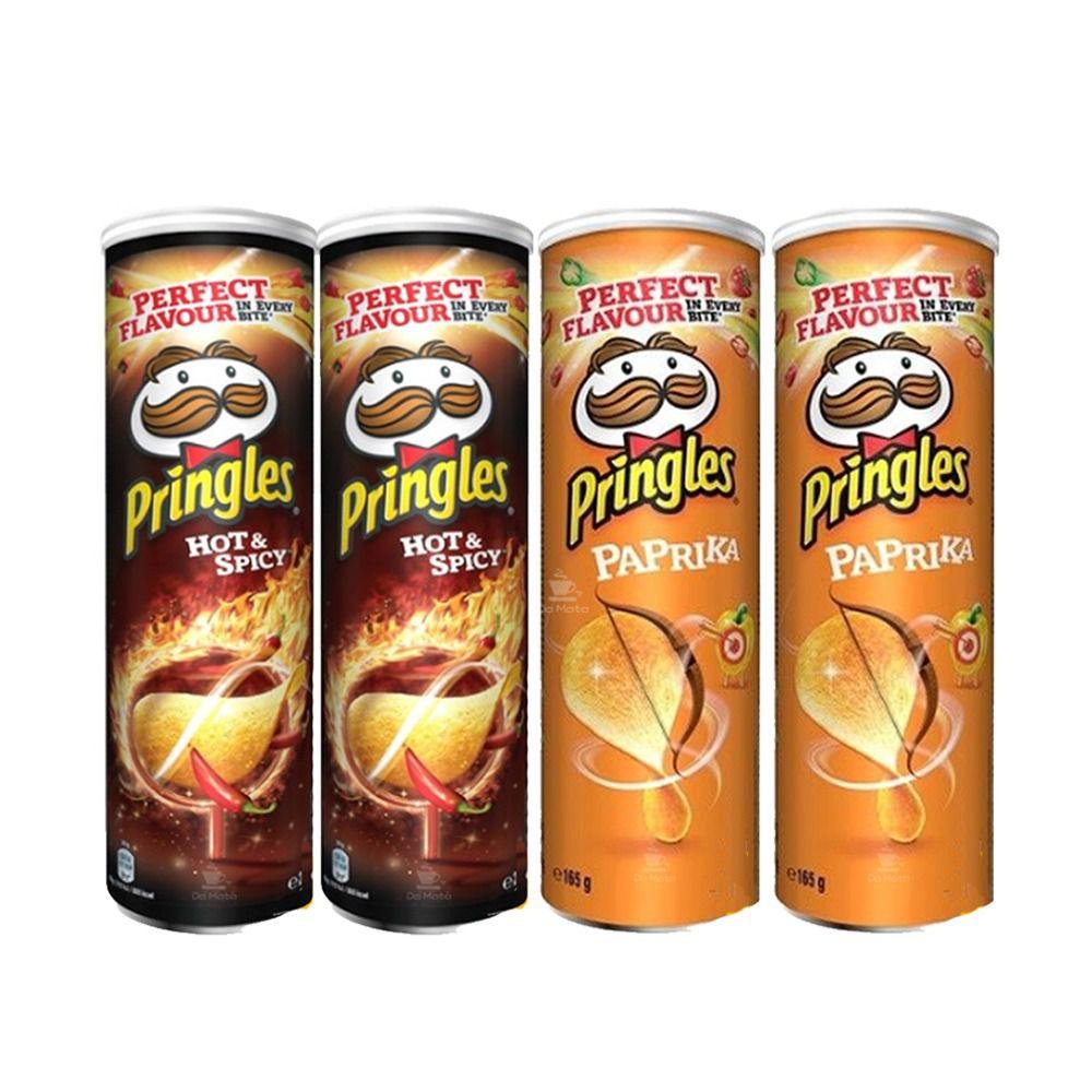 Kit Batata Pringles 4 uni - 2 Hot & Spicy - 2 Paprika  - IMPORTADAS