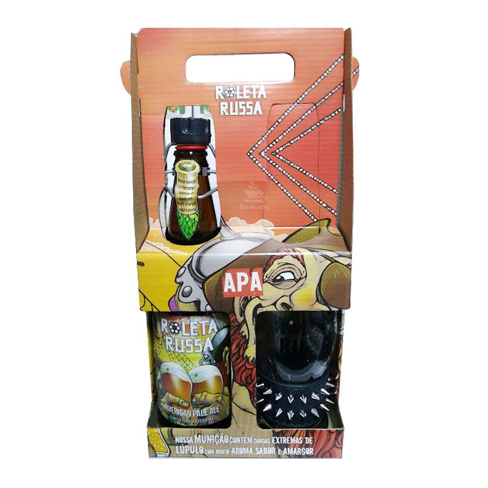 Kit Cerveja Roleta Russa American Pale Ale + Copo