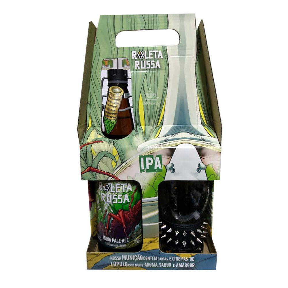 Kit Cerveja Roleta Russa India Pale Ale + Copo