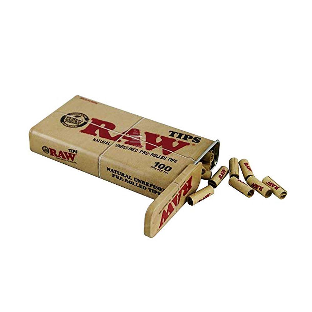 Lata c/ 100 Piteiras Pré-Enroladas Raw