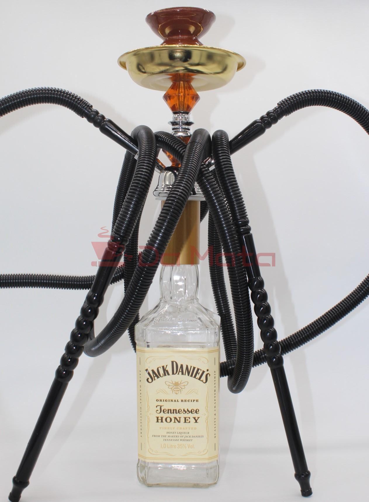 Narguilé Jack Daniels Honey - com duas mangueiras