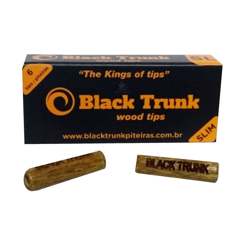Piteira de Madeira Black Trunk Wood Tips Slim