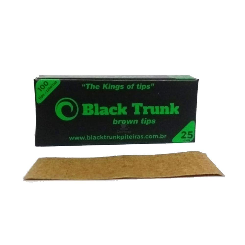Piteira de Papel Black Trunk Brown Tips 25mm