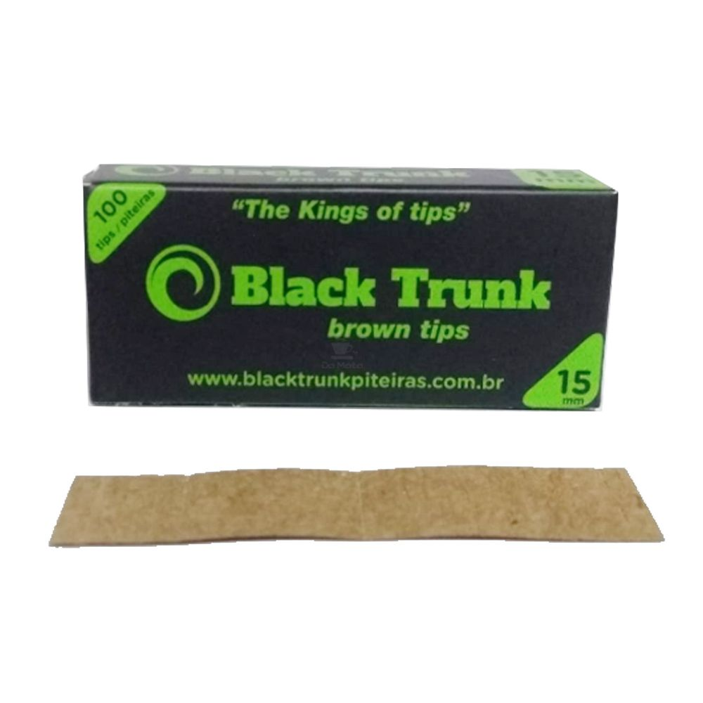 Piteira de Papel Black Trunk Brown Tips 15mm