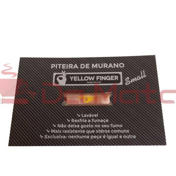 Piteira de Vidro Yellow Finger -Small