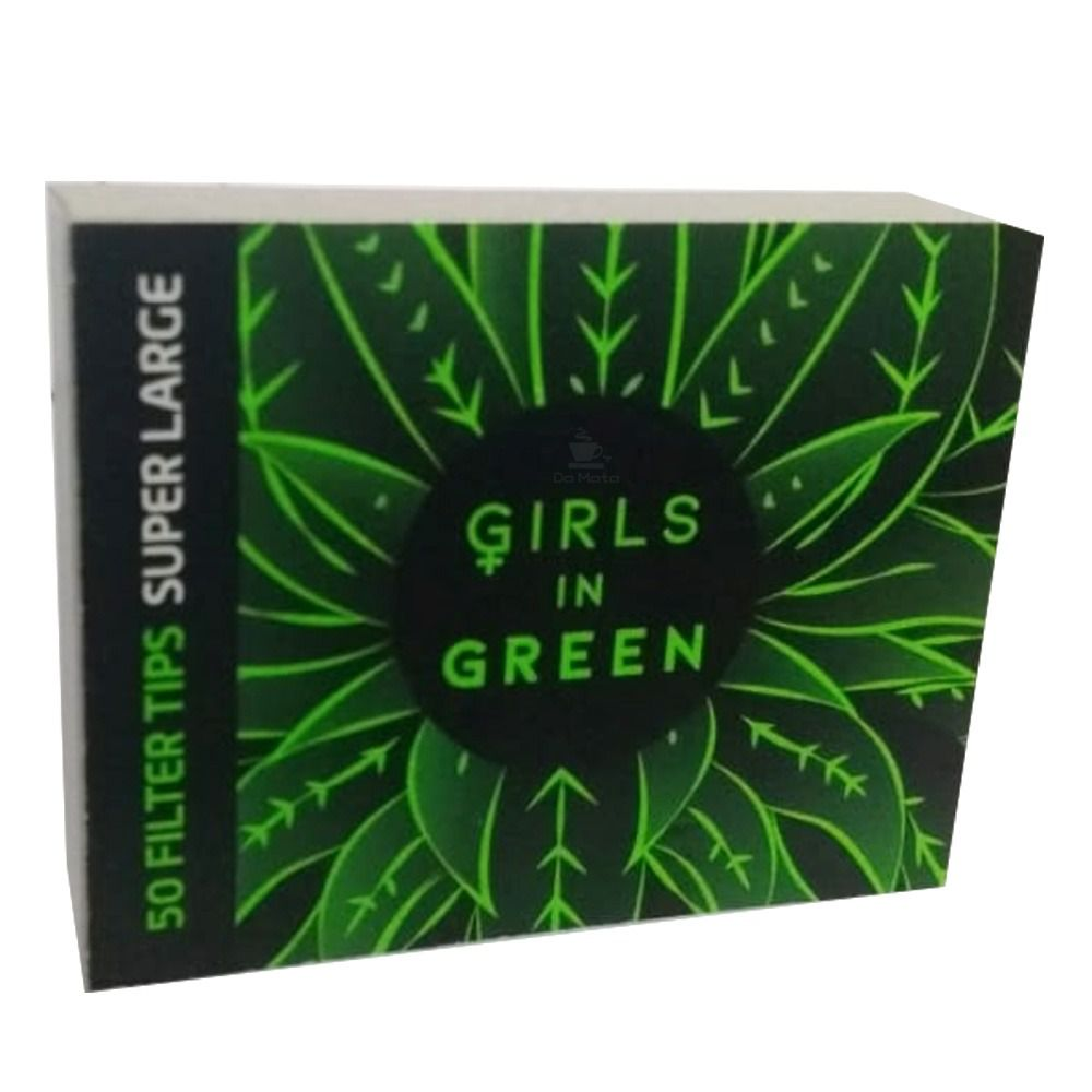 Piteira Girls in Green - 50 piteiras large, papel reciclado