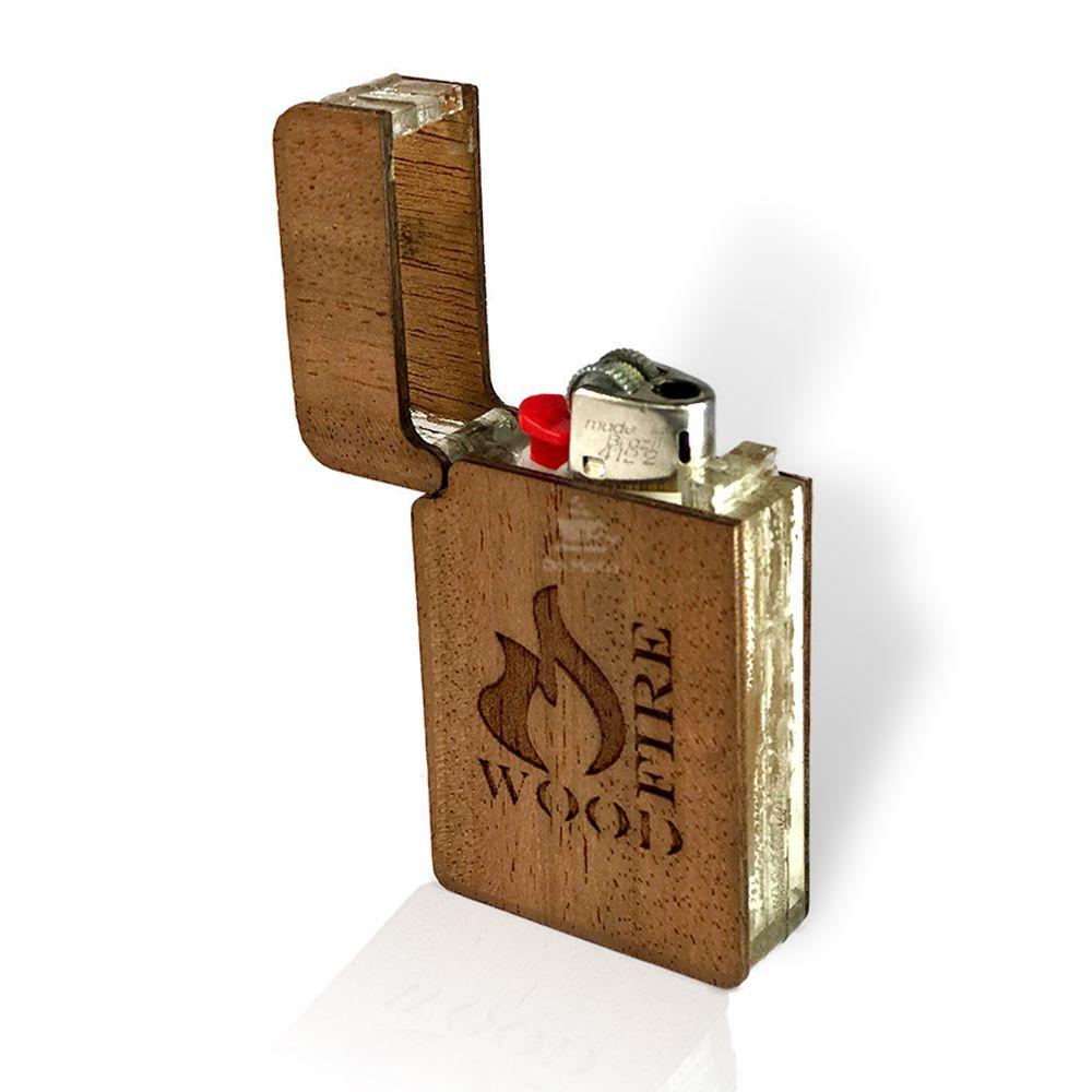 Porta Isqueiro - Wood Fire
