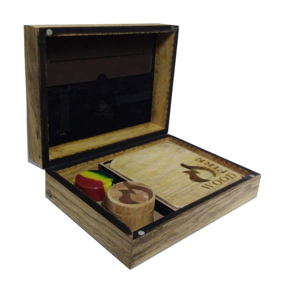 Rolling Box Wood Fire Mandala