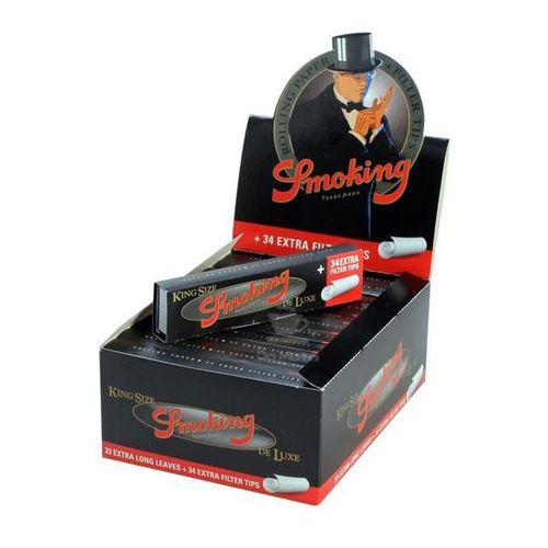 Caixa de Seda Smoking Deluxe c/ Piteira