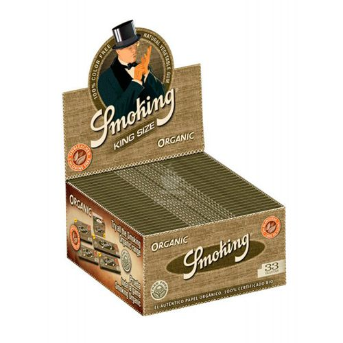 Caixa de Seda Smoking Organic King Size