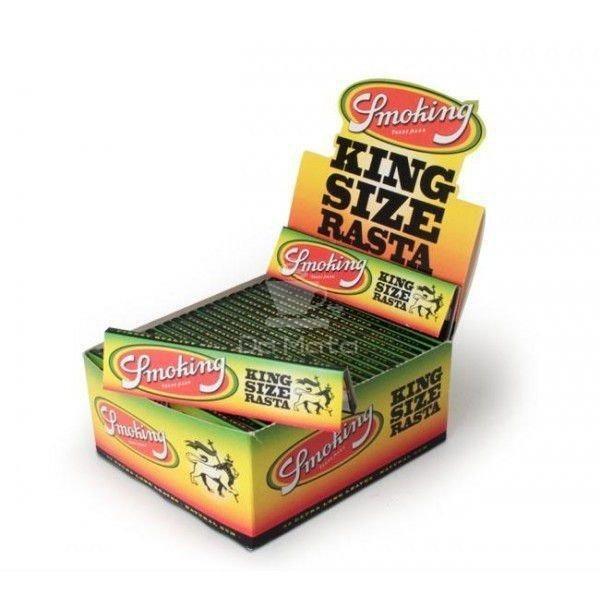 Smoking King Size Rasta - Caixa com 50 unidades