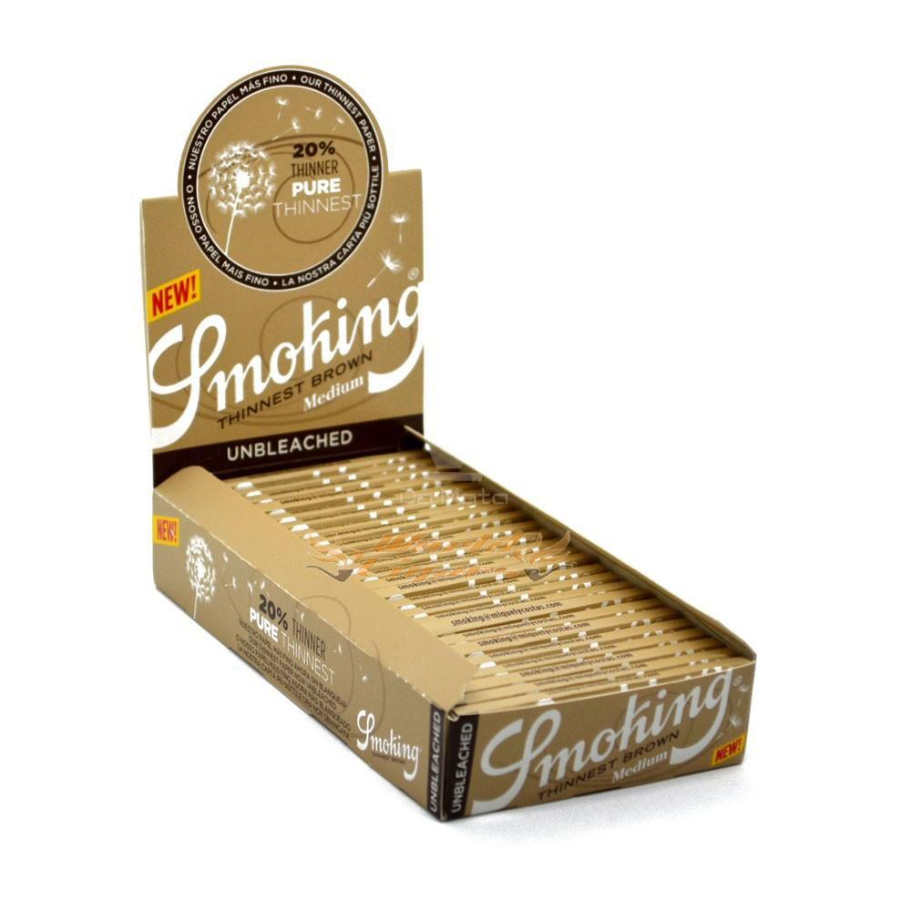 Smoking Thinnest Brown Medium - 25 uni