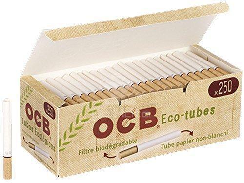 Tubo para Cigarro OCB -Eco Tubes, 250 tubos