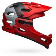 Capacete Bell Super 3R MIPS Preto / Cinza / Vermelho
