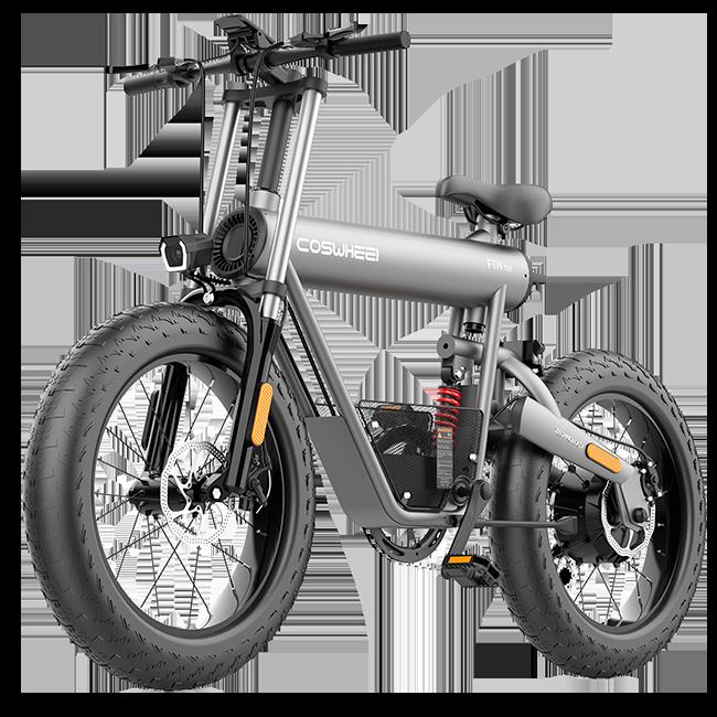 Bicicleta Elétrica Fat Bike Coswheel T20 10 Ah