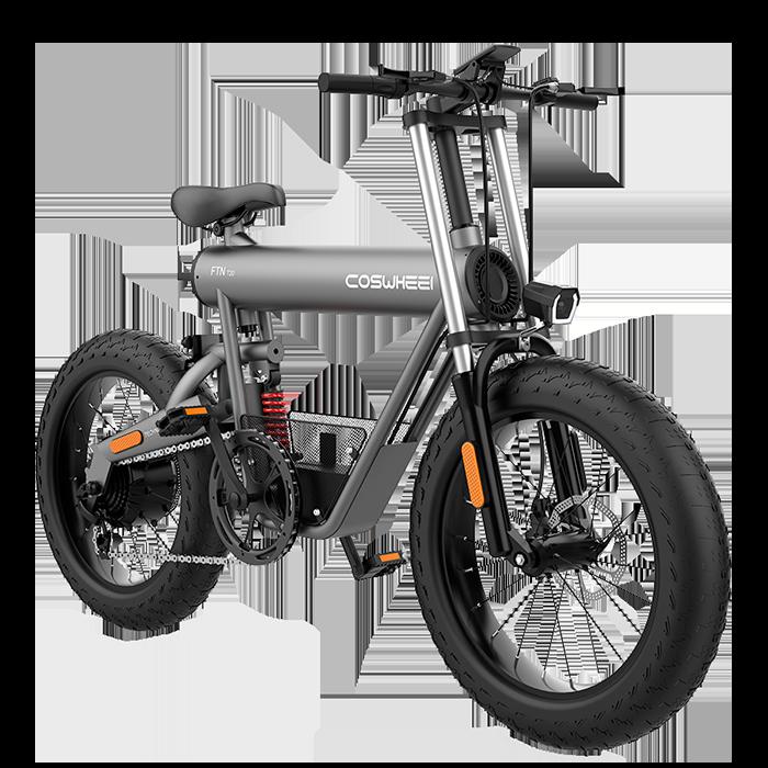 Bicicleta Elétrica Fat Bike Coswheel T20 Plus 20 Ah