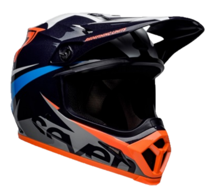 Capacete Bell MX 9 MIPS Seven Ignite Gloss Navy Coral