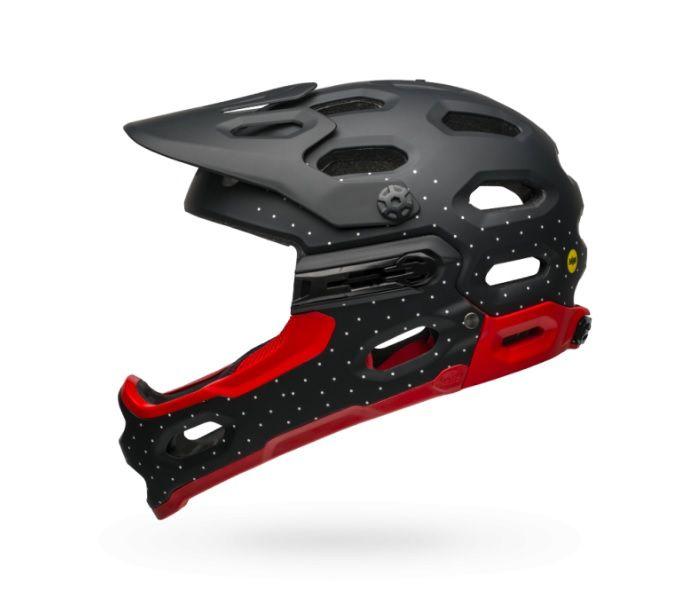 Capacete Bell Super 3R MIPS Preto Pontos / Vermelho