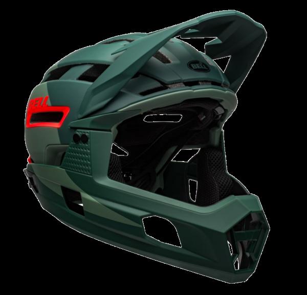 Capacete Bell Super Air Matte/Gloss Verde / Infra-vermelho